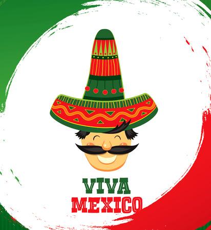 Viva Mexico! Vector illustration Vektorové ilustrace