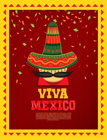 Viva Mexico! Vector illustration
