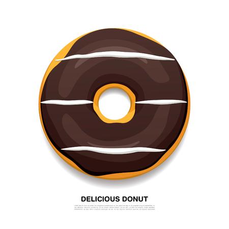 delicious: Bright delicious donut. Vector illustration