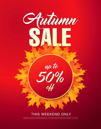tally: Autumn sale template banner