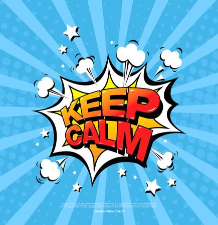 Keep calm. Speech bubble icon