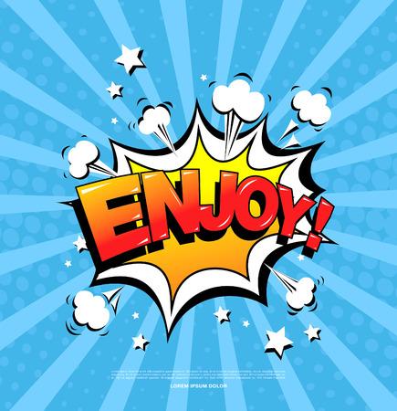 enjoy: Enjoy! Speech bubble icon