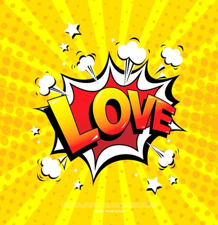 Love. Speech bubble icon