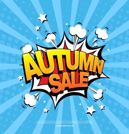Autumn sale speech bubble design