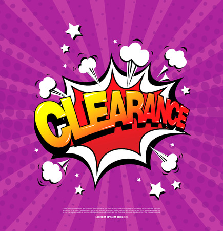 Clearance sale speech bubble design Illustration