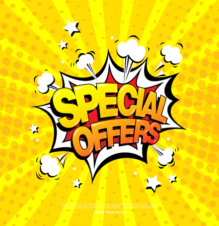 special offers: Special offers speech bubble design Illustration