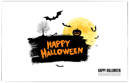 Happy halloween. Vector illustration