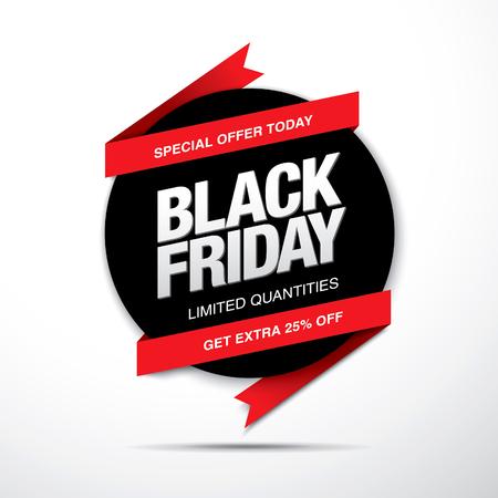 half price: Black friday sale label