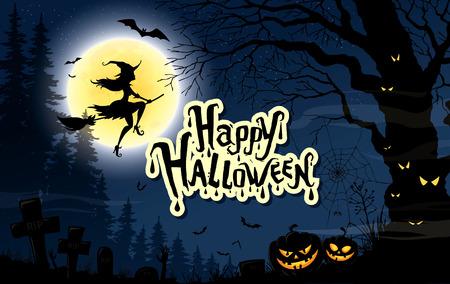 Happy halloween. Vector poster