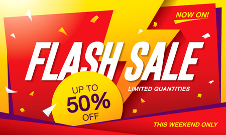 Flash sale banner template design Illustration