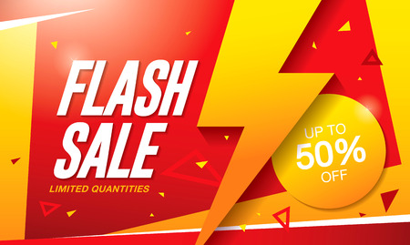 Flash sale banner template design 免版税图像 - 62927868