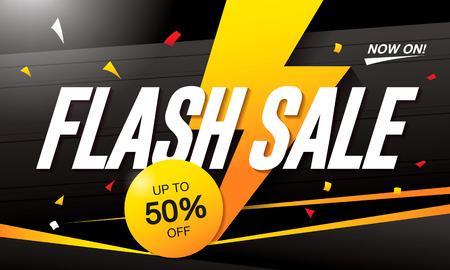 Flash-verkoop sjabloonontwerp spandoek Stock Illustratie