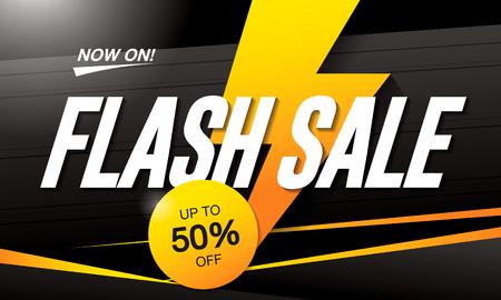 Flash sale banner template design Иллюстрация