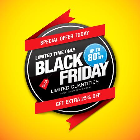 Black friday sale label design
