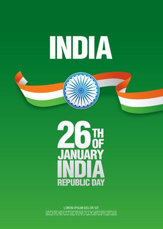 Republic Day of India. 26 th of January Vektorové ilustrace