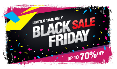 half price: Black friday Sale banner