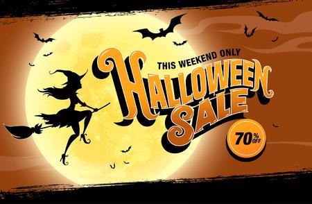 De verkoop van Halloween. vector illustratie
