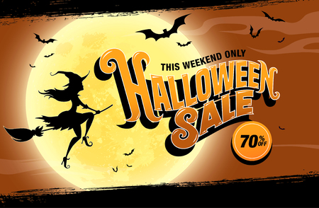 Halloween sale. Vector illustration