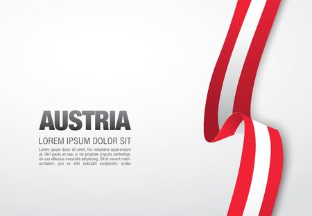 austrian: Austrian flag on a white background