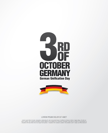 unification: German Unification Day - October 3 Illustration