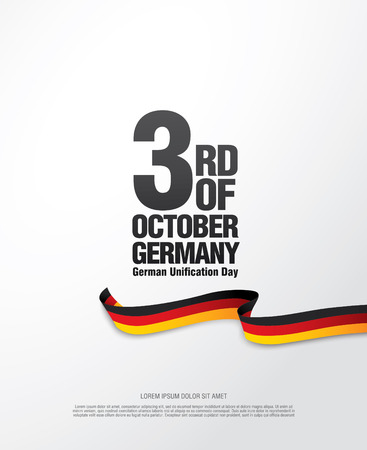 German Unification Day - October 3 Illustration
