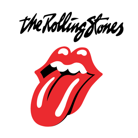 lettering: RUSSIA - OCTOBER 07, 2016: The Rolling Stones logo Editorial