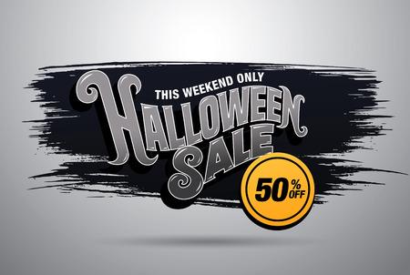 Venta de Halloween. ilustración vectorial Ilustración de vector
