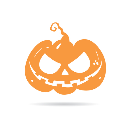 Pumpkin head for Halloween holiday icon. Vector illustration Illustration