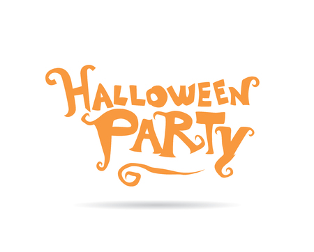 halloween party: Halloween party. Vector lettering