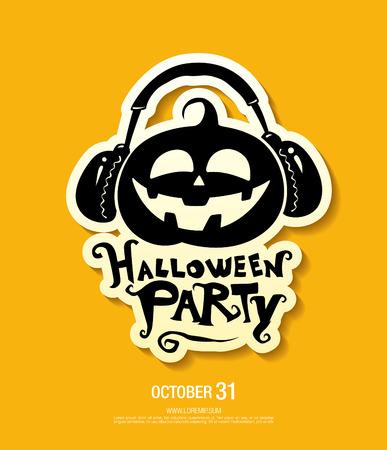 Halloween party poster. Vector illustration Illustration