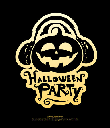 Halloween party poster. Vector illustration Illustration