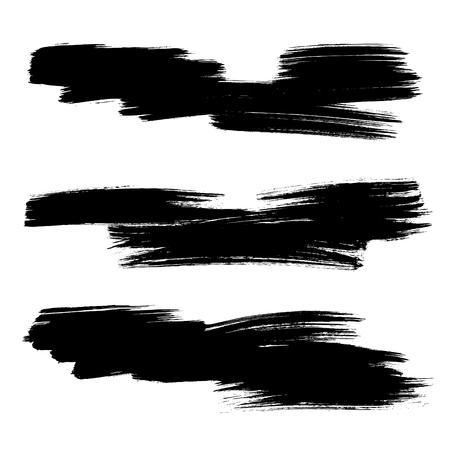 Set of vector grunge background. Vector brush strokes