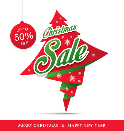 limited: Christmas sale. Vector banner