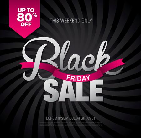 Black friday sale banner. Vector illustration Illustration