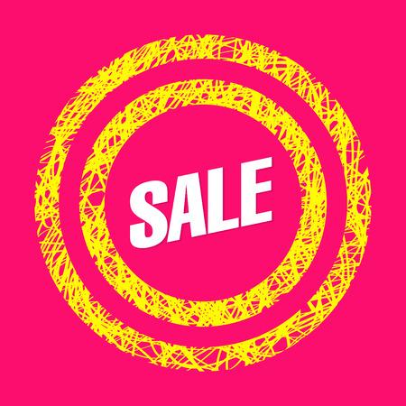ultimate: Sale bright banner Illustration