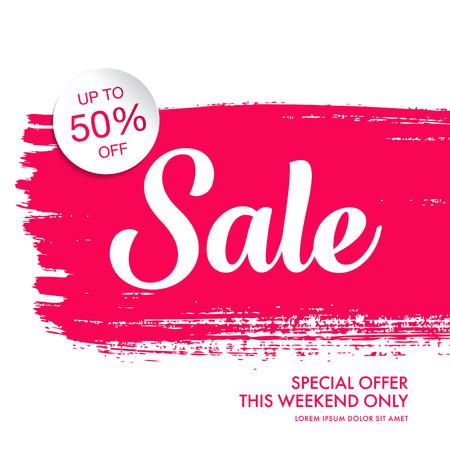 ultimate: sale banner template design Illustration