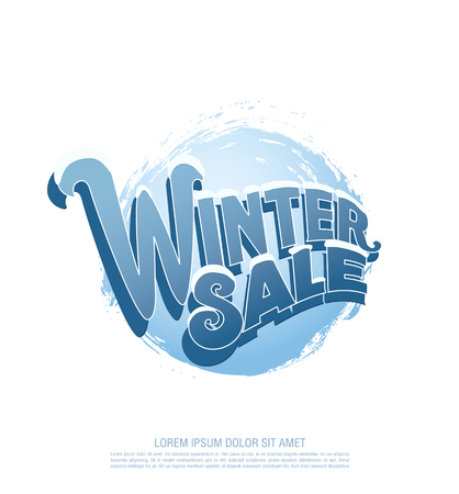 super market: Winter sale . illustration Illustration