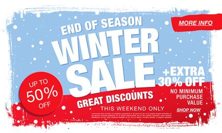 Winter sale . illustration Illustration