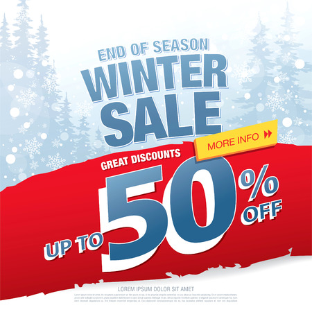 Winter sale . illustration Illustration