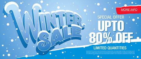 Winter sale illustration 免版税图像 - 65627497
