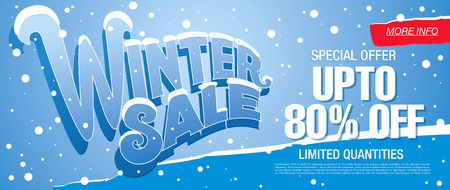 Winter sale illustration Stock Illustratie