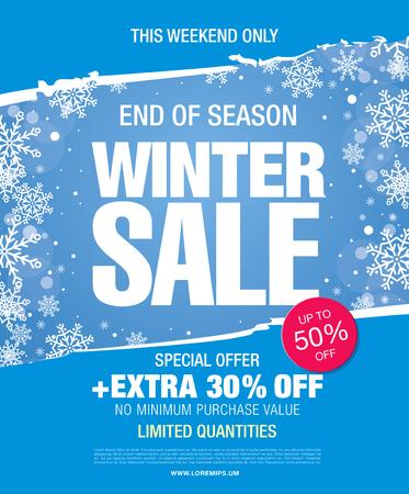 Winter sale illustration Illustration