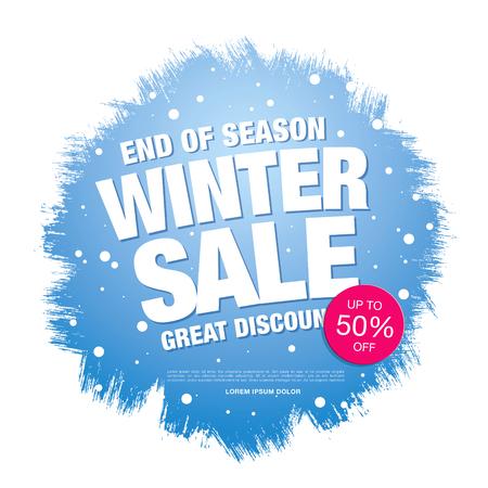 half price: Winter sale illustration Illustration