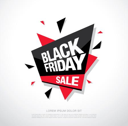 Negro Bandera de la venta el viernes. Negro icono de la venta el viernes