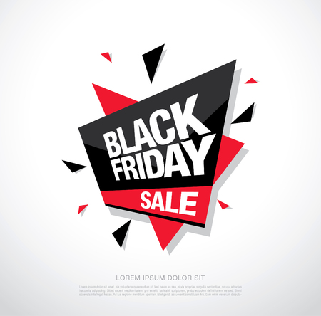 Black friday sale banner. Black friday sale icon