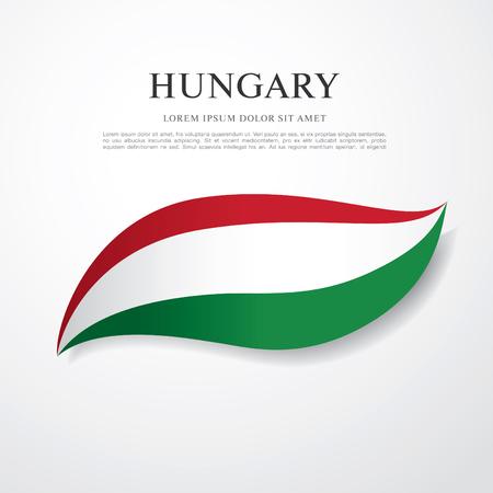 flag of hungary Vektorové ilustrace
