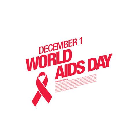 aids virus: December 1. World AIDS Day poster. Awareness ribbon. Vector illustration