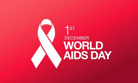 aids virus: December 1. World AIDS Day poster.