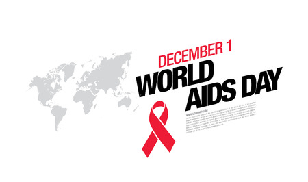 deficiency: December 1. World AIDS Day poster.