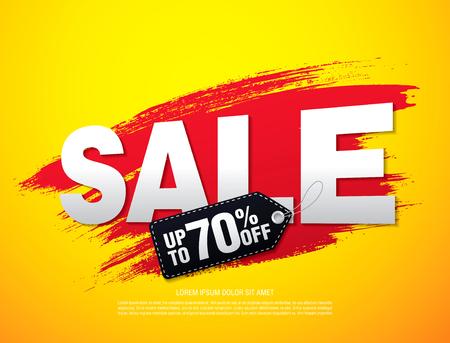 Sale banner. Sale background. Sale label Illustration